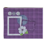 Lavender Rain Cosmetic Bag XL 104 - Cosmetic Bag (XL)