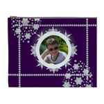 Ice cool dude purple snowflake Cosmetic bag - Cosmetic Bag (XL)