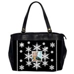 Blue eyed boy midnight snowstorm oversized office bag - Oversize Office Handbag (2 Sides)