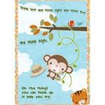 {ScrapDZines} Happy monkey Card  - Greeting Card 5  x 7