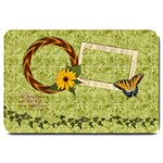 Butterfly & vine design-doormat - Large Doormat