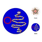 Christmas tree cards - Playing Cards Single Design (Round)