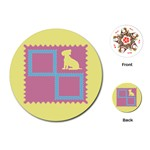 Dog cards - Playing Cards Single Design (Round)