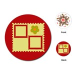 Red frames cards - Playing Cards Single Design (Round)
