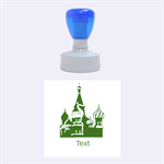 Russia stamp - Rubber Stamp Round (Medium)