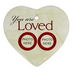 Merry and Bright You are Loved Heart Ornament - Ornament (Heart)
