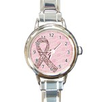 Breast Cancer Awareness-watch - Round Italian Charm Watch