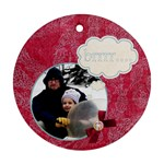 brrr... winter ornament - Ornament (Round)