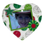 Merry and Bright Heart Ornament 1 - Ornament (Heart)