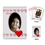 love heart gold vignette playing cards - Playing Cards Single Design