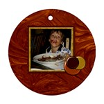 Who Doesn t Love Chocolate? Bakers Dozen ornament 1 - Round Ornament (Two Sides)