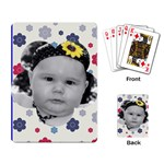 Flower Power Card Layout - Playing Cards Single Design (Rectangle)