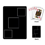 3 Photo Card Layout - Playing Cards Single Design (Rectangle)