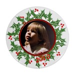 Ornament Round Template Holly - Ornament (Round)