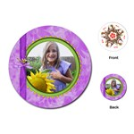 Miss Ladybugs Garden Round Playing Cards 1 - Playing Cards Single Design (Round)