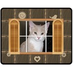 Window Frame Medium Fleece Blanket - Fleece Blanket (Medium)