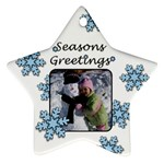 Seasons Greetings - Ornament (Star)