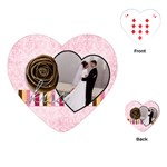 Kiss Valentine Heart Playing Cards - Playing Cards Single Design (Heart)