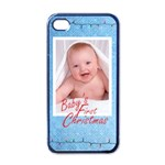 baby s first Christmas boy i phone case - Apple iPhone 4 Case (Black)