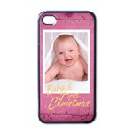 baby s first Christmas girl i phone case - Apple iPhone 4 Case (Black)