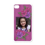 Apple iPhone 4 Case- Flowers 4u - Apple iPhone 4 Case (White)