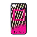 Pink zebra - i-PHONE case - iPhone 4 Case (Black)