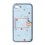 with Love blue - iphone case - iPhone 4 Case (Black)
