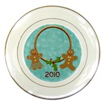 Christmas Jingle Gingerbread Plate - Porcelain Plate