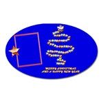Merry Christmas wishes - oval magnet - Magnet (Oval)