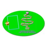 Merry Christmas wishes green - oval magnet - Magnet (Oval)