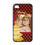christmas - Apple iPhone 4 Case (Black)