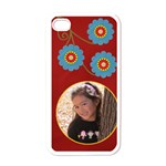 Apple iPhone 4 Case (White) - Swirls and Flowers