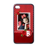 Apple iPhone 4 Case- Red Polka Dots - iPhone 4 Case (Black)