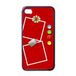 Red Fun iPhone4 Case - Apple iPhone 4 Case (Black)