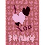 i heart you valentines day card2 - Greeting Card 4.5  x 6