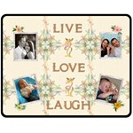 Live, Love, Laugh Floral Medium Fleece Blanket - Fleece Blanket (Medium)