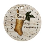 Reid s First Christmas - Round Ornament (Two Sides)