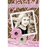 pink chocolate lined notebook - 5.5  x 8.5  Notebook