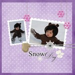 Snow Fun Quickpages - ScrapBook Page 12  x 12