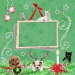 Cat & Dog 12x12 Scrap Page - ScrapBook Page 12  x 12