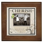 Cherish  Framed Tile