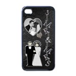 Mr & Mrs Apple iPhone 4 Case - iPhone 4 Case (Black)