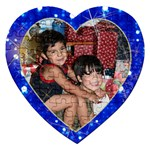 blue lights heart sparkling puzzle - Jigsaw Puzzle (Heart)