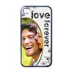 love forever valentine monochrome  i phone case - iPhone 4 Case (Black)