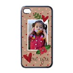 iPhone 4 case- I Love You! - Apple iPhone 4 Case (Black)