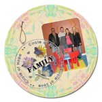 Family Love 5  Round Magnet - Magnet 5  (Round)