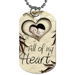 All of my Heart Mocha and silk dog tag double sided - Dog Tag (Two Sides)