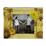 Yellow Flowers XL Cosmetic Bag - Cosmetic Bag (XL)