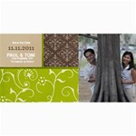 Save the Date Photo Cards- Brown & Green - 4  x 8  Photo Cards