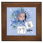 Framed Tile - Cute Baby Boy